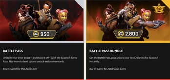 Apex Legends Battle Pass Cost