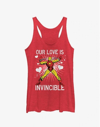 MARVEL IRON MAN INVINCIBLE LOVE GIRLS TANK