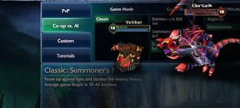 League of Legends Co-op vs. AI