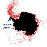 Maps Show Where Larsen C Iceberg Will Go Next