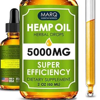 Marq Hemp Oil Drops (5000MG) - Best Natural Hemp Seed Oil