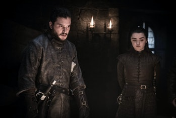 Game of Thrones Kit Harington Maisie Williams