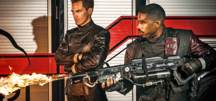 The firemen uniforms reflected the fire in unnerving ways in 'Fahrenheit 451'.