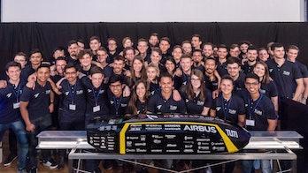 TUM Hyperloop with their pod.