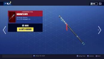 Fortnite Black Widow pickaxe