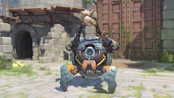 Wrecking Ball Hammond Overwatch pose