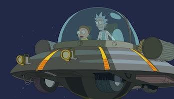 rick and morty rick's ship