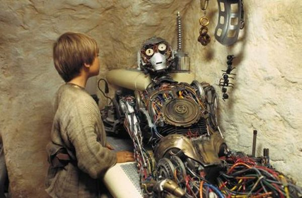 Jake Lloyd as Anakin Skywalker and C-3PO in 'Star Wars: Episode I - The Phantom Menace'