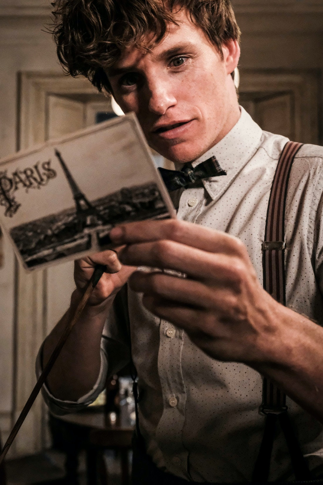 Who sends Newt a postcard from Paris?