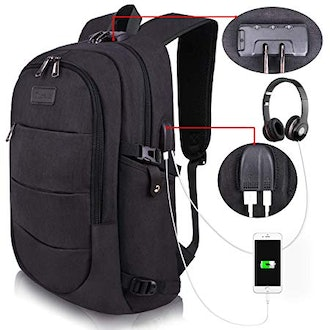 Tzowla Smart Backpack with USB Ports and Anti-Theft Lock