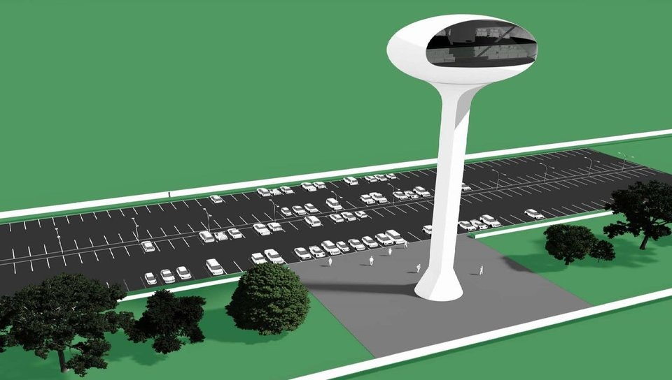 Rendering of the proposed control tower