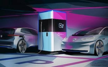 Volkswagen's power bank in action.