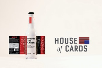 The House of Cards pilsner design.