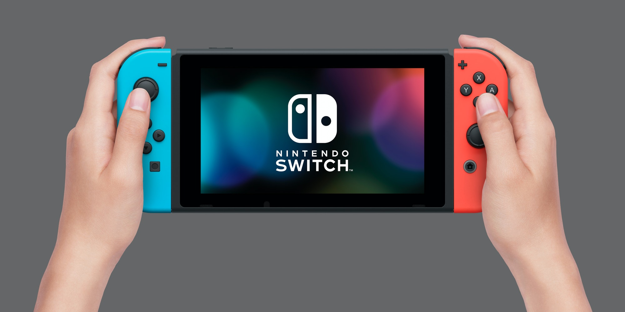 Nintendo Switch with Joy-Con controllers