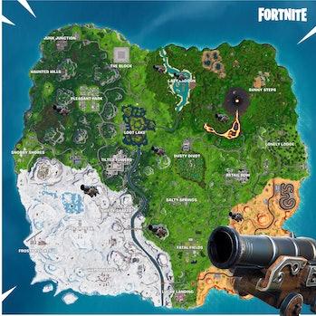 fortnite cannon locations map season 8