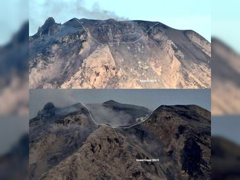 mount sinabung explosion february 2018