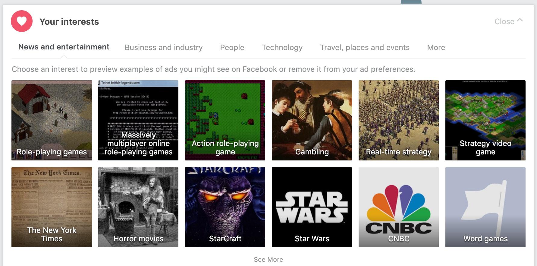 facebook ad interests