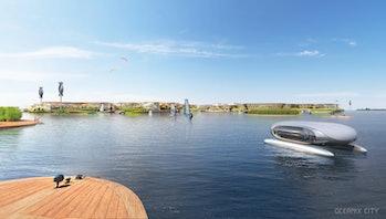 Oceanix floating city