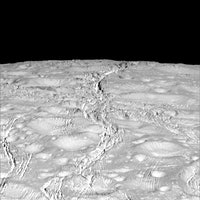Saturn's Icy Moon Enceladus Photographed by NASA