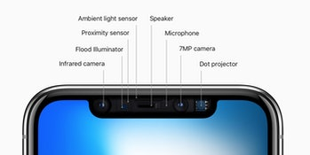 iphone x notch diagram