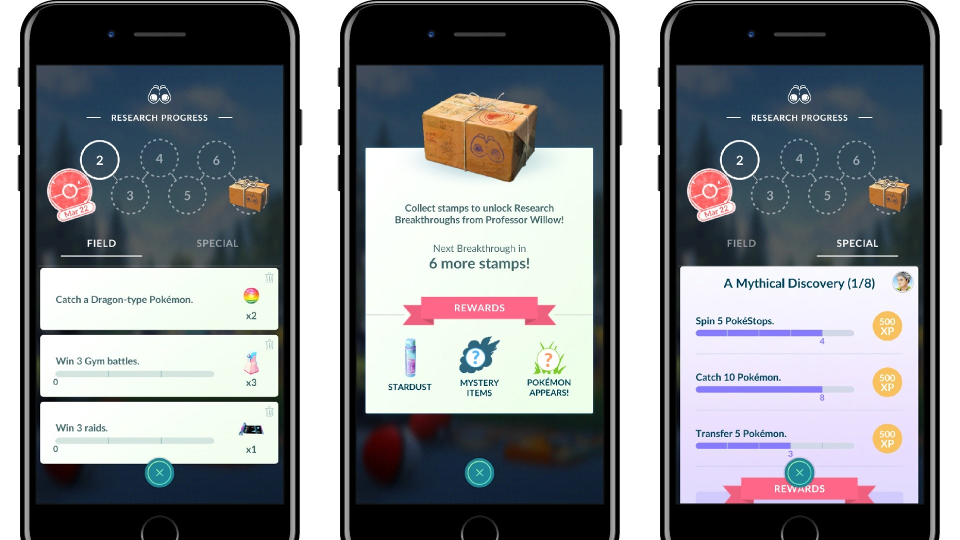 A look at some examples of how Research functions in 'Pokémon GO'.