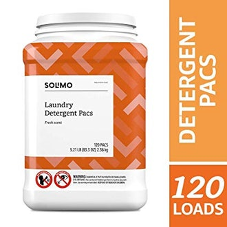 Amazon Brand Solimo Laundry Detergent Pacs, 120 Count