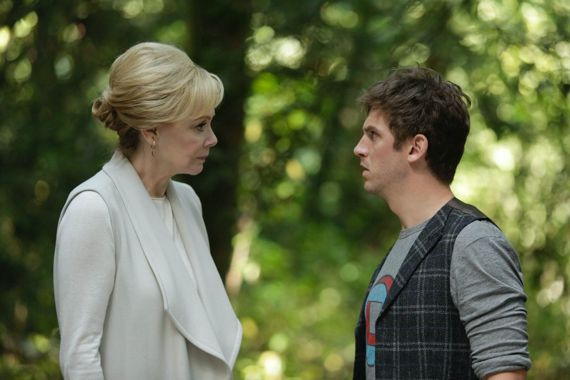 Melanie Bird and Dan Stevens as David Haller in 'Legion'