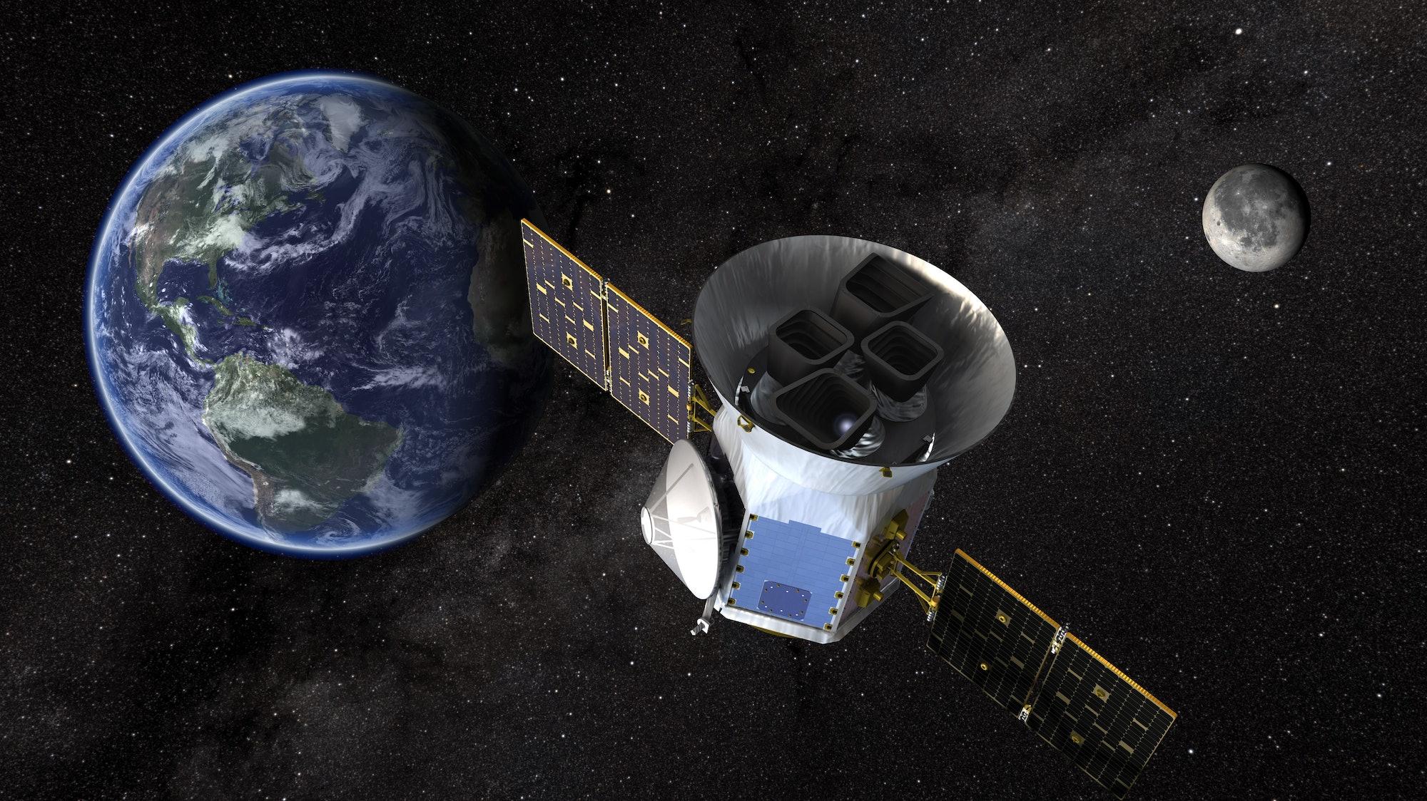 Artist conception of NASA's TESS spacecraft.