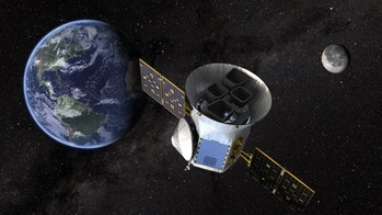 Artist conception of NASA's TESS spacecraft.
