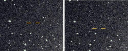The images that led to the discovery of the new moons around Saturn were taken by the Subaru telescope