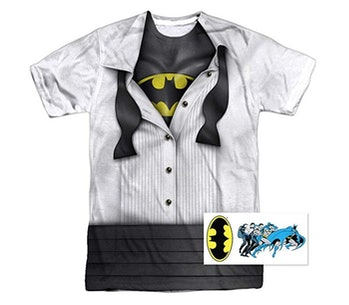DC Comics Adult Superhero Costume T Shirt I'm Superman, Batman, The Flash & Wonder Woman