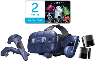 HTC Vive Pro Virtual Reality System with Steam VR 2.0 tracking and controllers