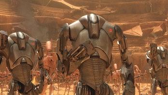 the mandalorian trailer 2 super battle droids