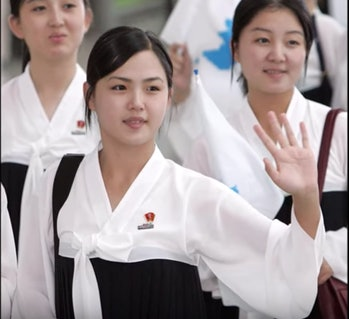 Ri Sol-Ju cheerleader