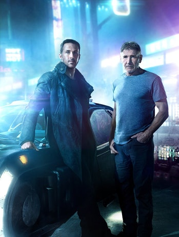 ford and gosling standing by a car