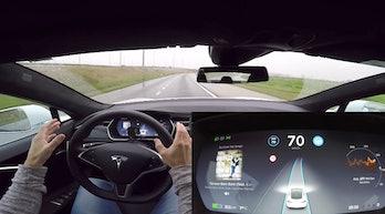 Tesla Autopilot in action.