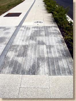 tactile paving bicycle lanes