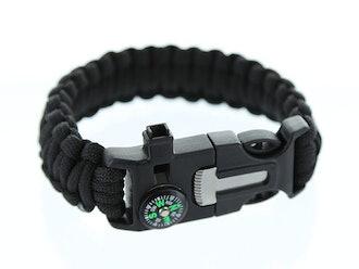 5-in-1 Survival Flint Fire Starter Bracelet: 2-Pack