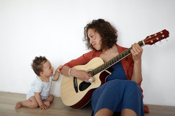 song, mom, baby, music