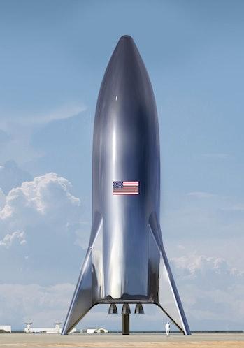 The new Starship Hopper ready to go.