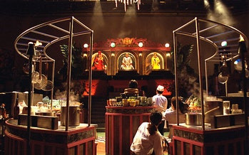 Set of Kitchen Stadium for the popular cooking show Iron Chef