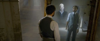 Dumbledore sees Grindelwald in the Mirror of Erised in 'The Crimes of Grindelwald'.