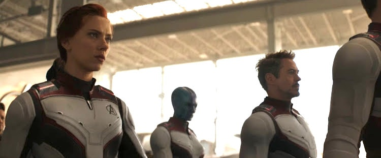 "The Avengers in their new ""Quantum suits."""