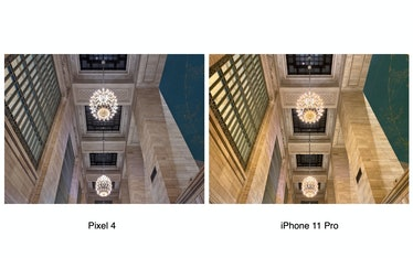 Google Pixel 4 vs. iPhone 11 Pro low-light camera comparison