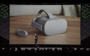 Barra unveils the Oculus Go.
