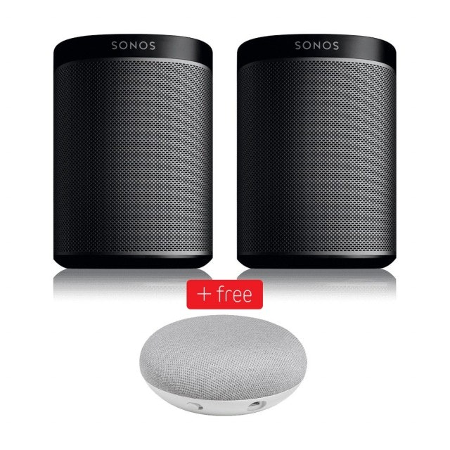 Sonos Play:1 Stereo Set + free Google Home Mini Smart speakers