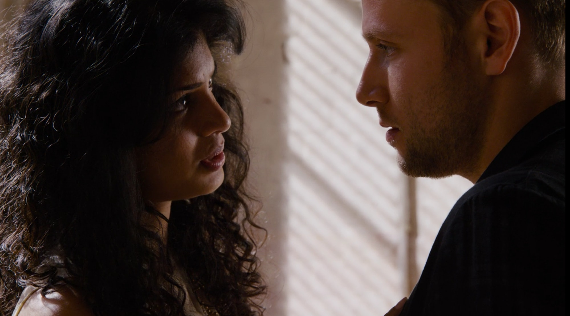 Tina Desai as Kala and Max Riemelt as Wolfgang in 'Sense8' Season 2