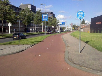 bike path Rotterdam the Netherlands Dutch design