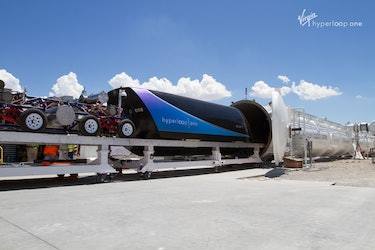 The Dev Loop operated by Virgin Hyperloop One takes about four hours to become nearly vacuumed sealed.