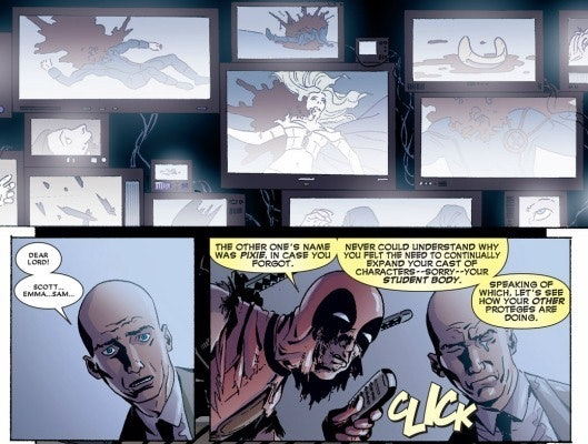 Deadpool and Professor X run-ins don't usually go well for the X-Men.